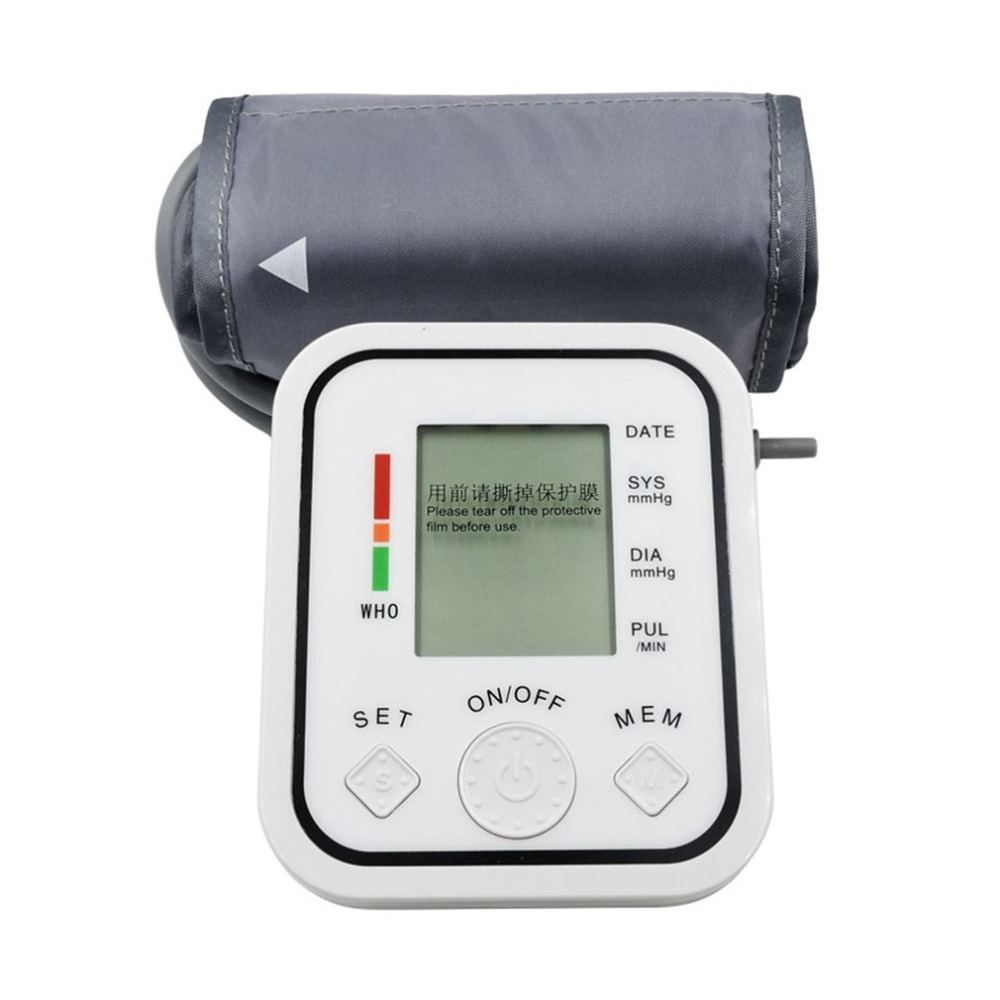 LCD Digitale Oberen Arm Blutdruck Monitor Heart Beat Meter Pulse Maschine Automatische Blutdruck Monitor tonometer manometer