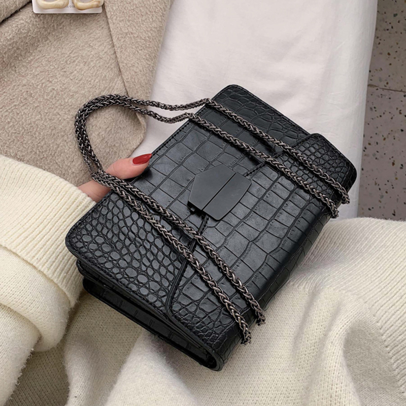 Stone Pattern Leather Crossbody Bag For Women 2020 Fashion Sac A Main Female Shoulder Bag Female Handbags And Purses With Handle