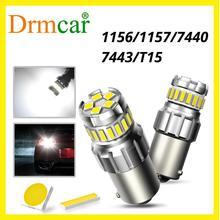 2Pcs 1156 BA15S P21W LED T15 Bulb 1157 bay15d P21/5W Auto Signal Lamp Brake Reverse Car Light Daytime Running Lights