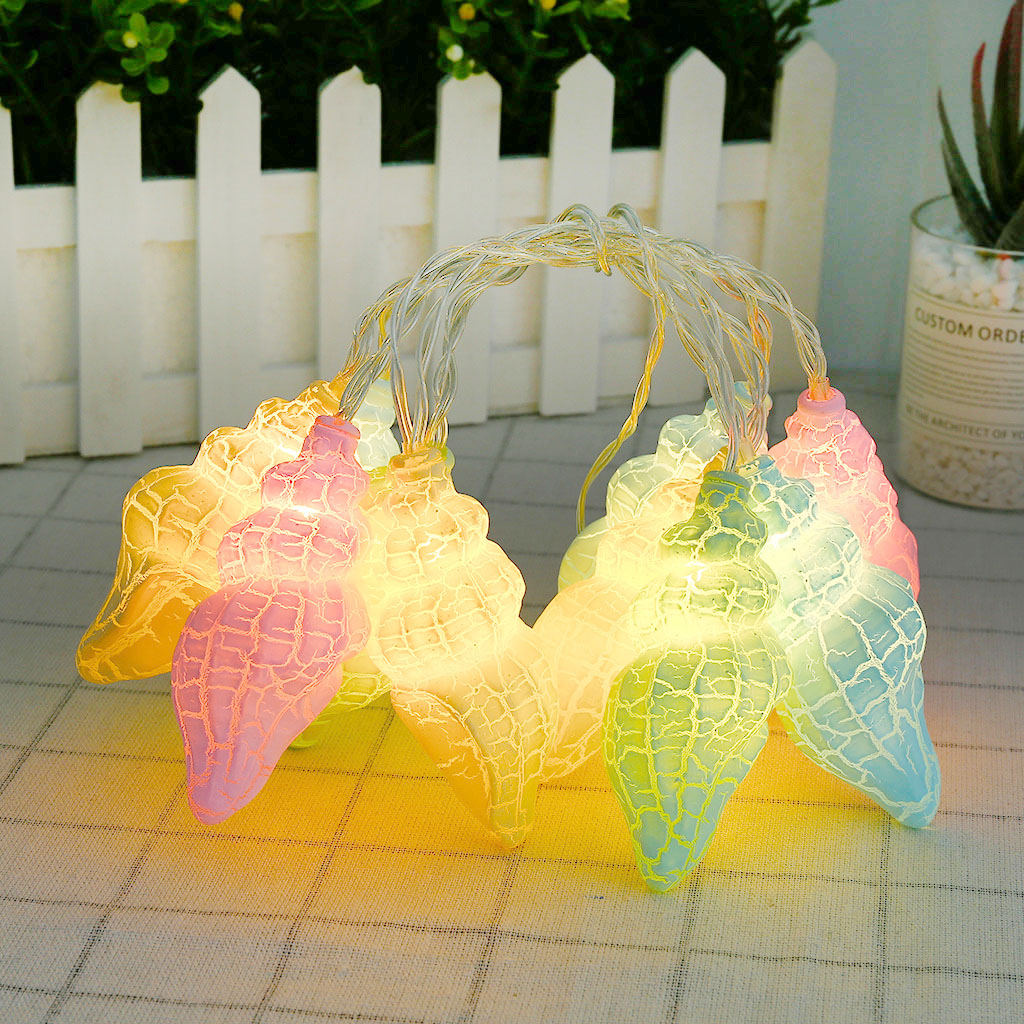 European LED String Light Natural Sea Shell Conch Handmade Creative Diy String Lights USB Led Lights Room Decoration