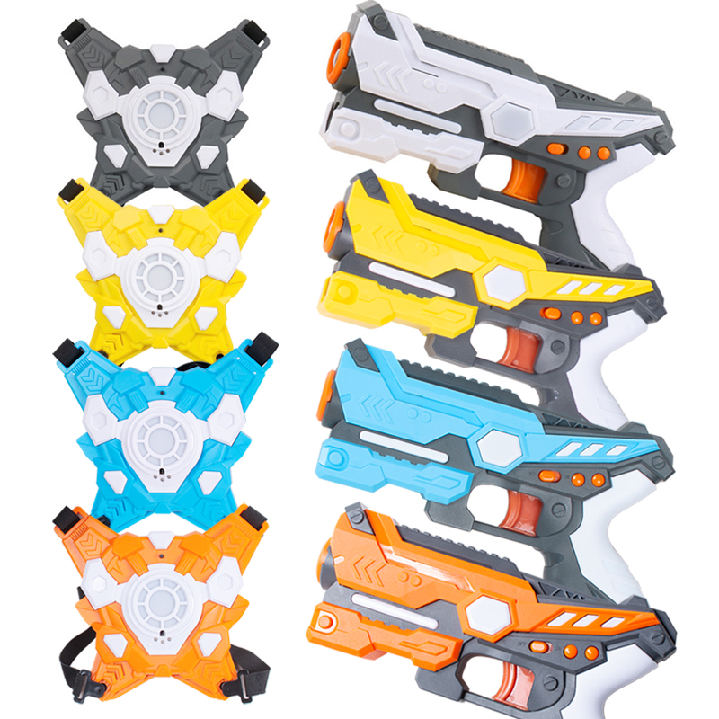 HUANUO Infrared Shooting Combat Set Toy Laser Gun Sound And Light Special Effect Kids Electric Guns Indoor And Outdoor Sport Toy
