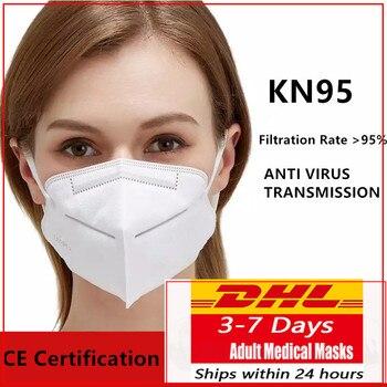 DHL 100Pcs Medical-Disposable viruses mask mascarilla mascarillas masque mundschutz maske facemask n95mask kn95mask pm25 Kit 1