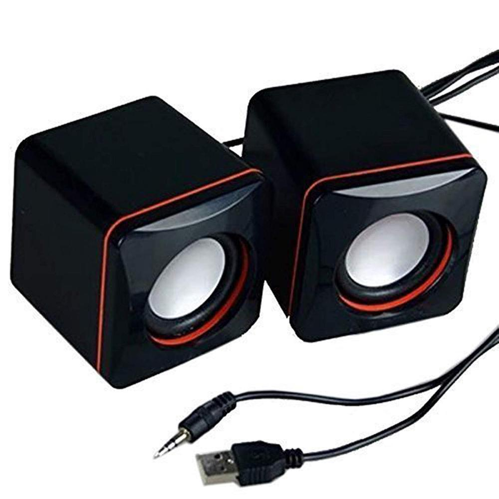 MeterMall Portable Computer Speakers USB Powered Desktop Mini Speaker Bass Sound Music Player System Wired Small Speaker