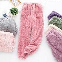 Pyjamas Women Sleep-Bottoms Trousers Flannel Casual Autumn Winter Keep-Warm