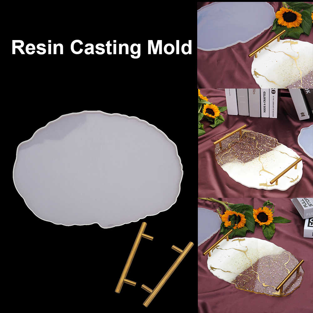 Resin Silicone Irregular Tray Mould Fruit Plate Mold Coasters Table Mat