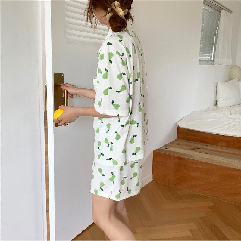 Купить caiyier новые летние женские хлопковые пижамы набор корея милый