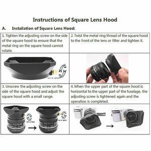 Image 4 - Retro Square Shape Lens Hood For Leica D LUX Typ109 Panasonic DMC LX100 LX100 Mark II Camera