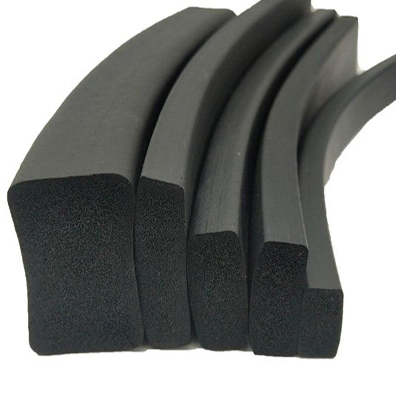 Adhesive Rubber Foam Sponge Cabinet Door Window Seal Strip Crashproof Weatherstrip Sound Insulation