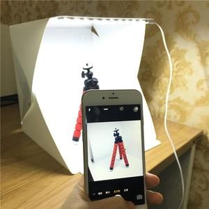 Image 2 - 40 x 40 x 40 cm Photo Studio Box Photography Backdrop Built in Light Photo Box Little Items Photography Box Studio Accessories