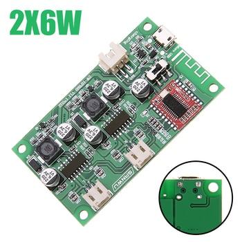 Wzmacniacz bluetooth pokładzie 2X6W 5V dźwięk cyfrowy wzmacniacze mocy moduł Stereo podwójny kanał Amplificador litowo zasilany z baterii
