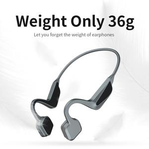 Image 4 - SANLEPUS V10 auriculares de conducción ósea inalámbricos, Auriculares deportivos de oreja abierta, HD, para llamadas, a prueba de agua IPX6, para correr, BT 5,0