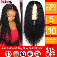 Bestsojoy 360 Lace Frontal Wig 13X6 Kinky Curly Lac
