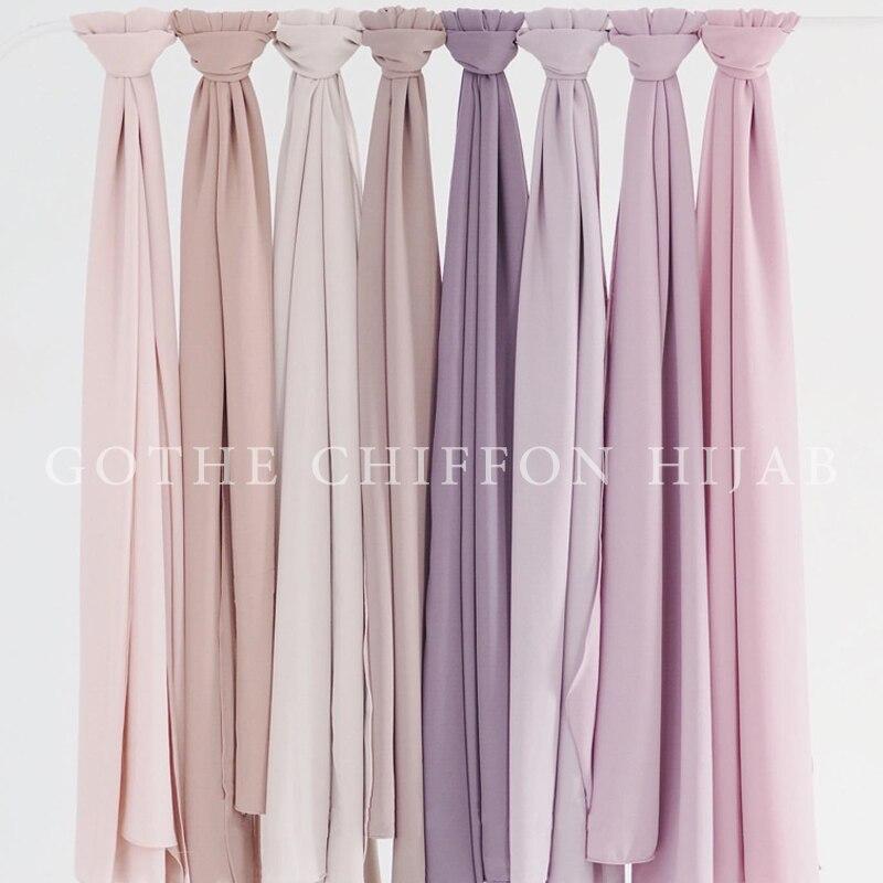 Женский однотонный пузырьковый шифоновый хиджаб, головной платок, готовый к ношению, мгновенный шарф, мусульманская шаль, исламский хиджаб, Арабская повязка на голову, шарфы|Мусульманская одежда|   | АлиЭкспресс