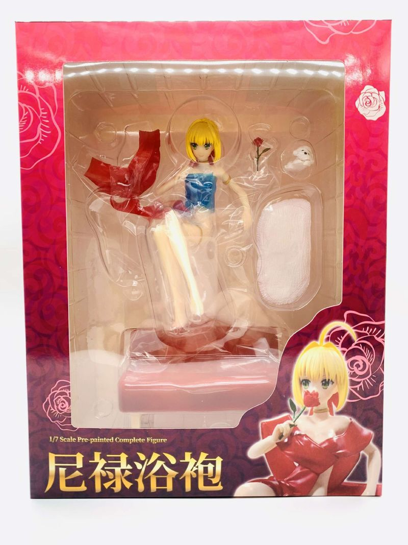 Image 5 - Fate/EXTRA Stay Night fate Grand Order Saber Lily Nero Claudius Bathrobe Red Dress Ver. PVC Action Figure Sitting on Sofa ToysAction & Toy Figures   -