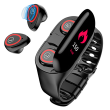 M1 AI Smart Watch With Bluetooth Earphone Heart Rate Blood pressure Monitor Wristband Long Time Standby Sport Men