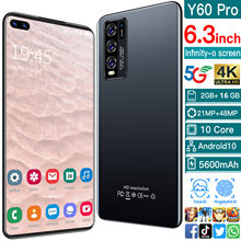 Telefone esperto cectdigi y60 pro 5600mah ram 2gb + rom 16gb android 10.0 6.0