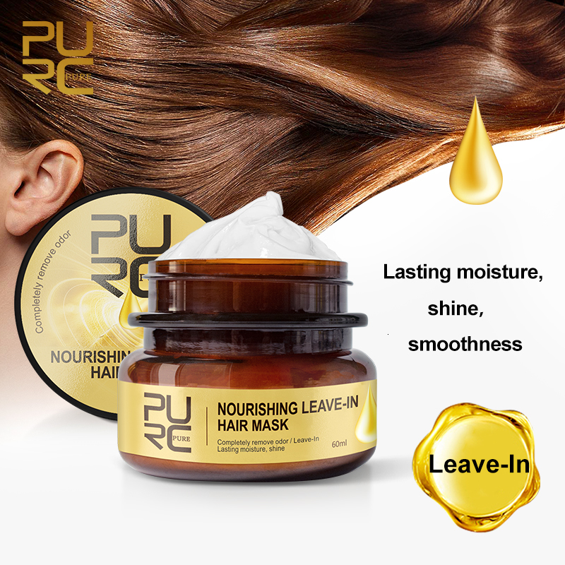 PURC Nourishing Leave-In Hair Mask Completely Remove Odor Lasting Moisture Shine Hair Treatment Repairs Frizzy Hair care 3