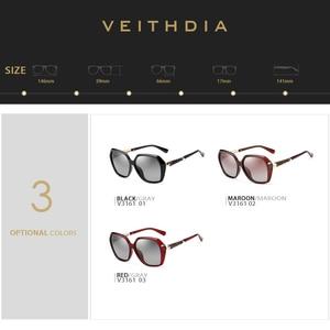 Image 4 - VEITHDIA TR90 kadın güneş gözlüğü polarize degrade Lens lüks bayan tasarımcı güneş gözlüğü gözlük kadınlar için 3161
