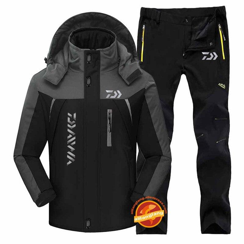 2020 Nowy Daiwa Plus Aksamitne Kombinezony Wędkarskie Outdoor Oddychająca Odzież Wędkarska Bluza Z Kapturem Elastyczne Spodnie Zestaw Sportowy Mężczyźni Ubrania Wędkarskie Ubrania Wędkarskie Aliexpress