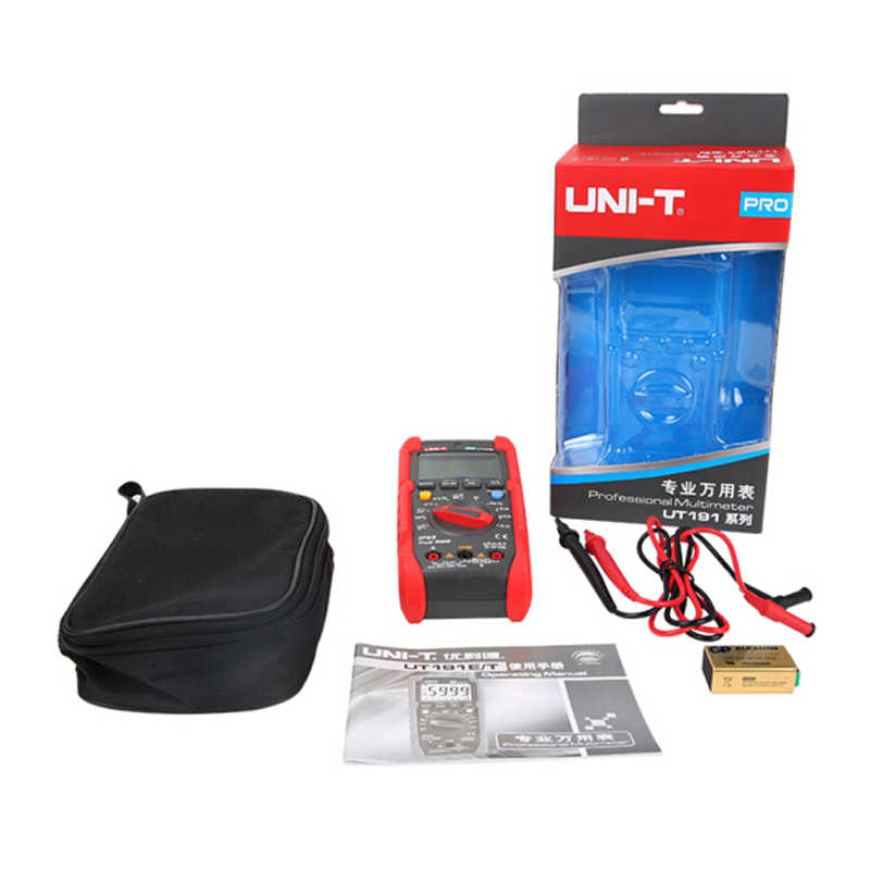 UNI-T 테스터 디지털 멀티 미터 Profesional UT191T UT191E True RMS 자동 범위 DMM 20A 전류계 600V 카운트 6000 DC AC 커패시터