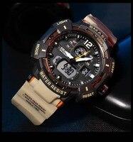 SMAEL-reloj deportivo con movimiento de cuarzo para hombre, cronómetro Digital con luz LED trasera, alarma, militar, resistente al agua, nuevo