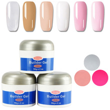 UV Builder Gel For Nail Extension Acrylic Poly Gel Pink Nail Gel Polish for Nail Extensions Camouflage Nails Art Extend Varnish fengshangmei 15g gel for nail extensions clear constructor gel nail polish camouflage 18 colors uv builder gel