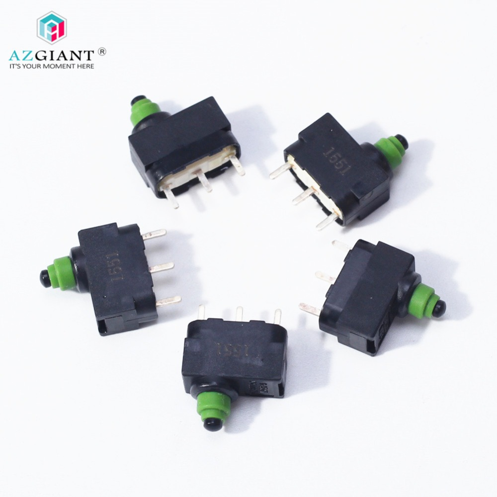AZGIANT 5pcs/lot Micro Switch For Audi J518 Lock Ignition Switch ELV/ESL A6L Q7 Steering Wheel Lock ECU Board 3 Straight Feet
