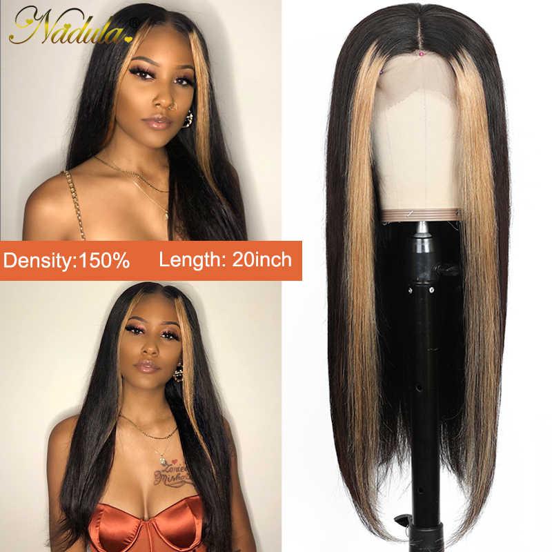 Nadula Hair 13*4 pelucas frontales de encaje para mujeres, peluca Frontal de encaje de cabello humano, peluca Frontal de encaje liso brasileño, peluca destacada