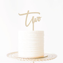 New Arrival Number 2 Cake Topper Baby Shower Birthday Party Age Two 2nd Cake Accessory Supplies Wooden Acrylic Party Favors