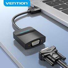 Vention HDMI لمحول VGA HDMI ذكر إلى VGA أنثى 1080P الرقمية إلى التناظرية فيديو الصوت لأجهزة الكمبيوتر المحمول اللوحي HDMI إلى محول VGA