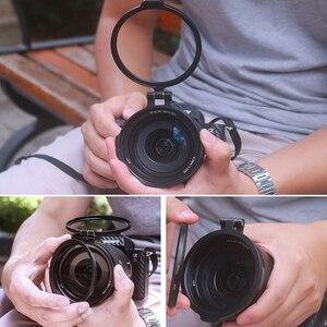 Image 3 - UURig Rapido Sistema di Filtraggio A Sgancio Rapido di Vibrazione della Staffa di Interruttore di Clip di Lente 77 82 67 MILLIMETRI per Sony Canon Nikon DSLR accessori della fotocamera