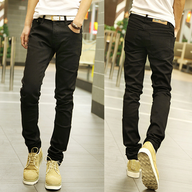 AliExpress Hot Selling Batches Autumn Men's New Style Fashion Solid Color Pants Fashion Men's Black And White With Pattern Slim