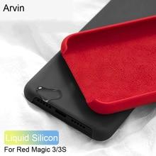 Arvin Case for Nubia Red Magic 3 3S Case Original Liquid Silicone Soft Microfiber Lining Cover for Nubia Red Magic 3