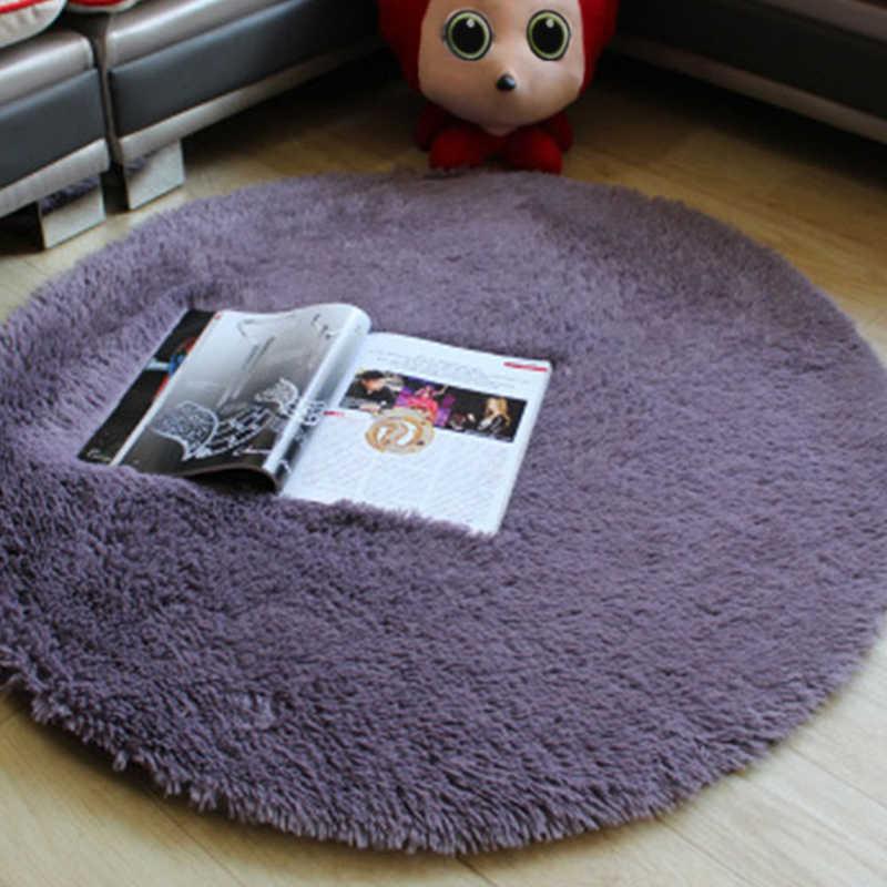 Alfombra redonda caliente 40cm Silla de dormitorio antideslizante cojín de Yoga alfombra de puerta de suelo para sala de estar alfombra para sala de niños cubierta de juego
