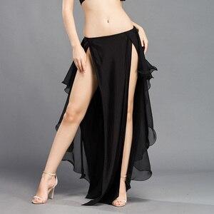 Image 5 - בטן ביצועים חדשה ריקוד תלבושות גלי חצאית שמלת סדק חצאית שמלת קרנבל צבע 6