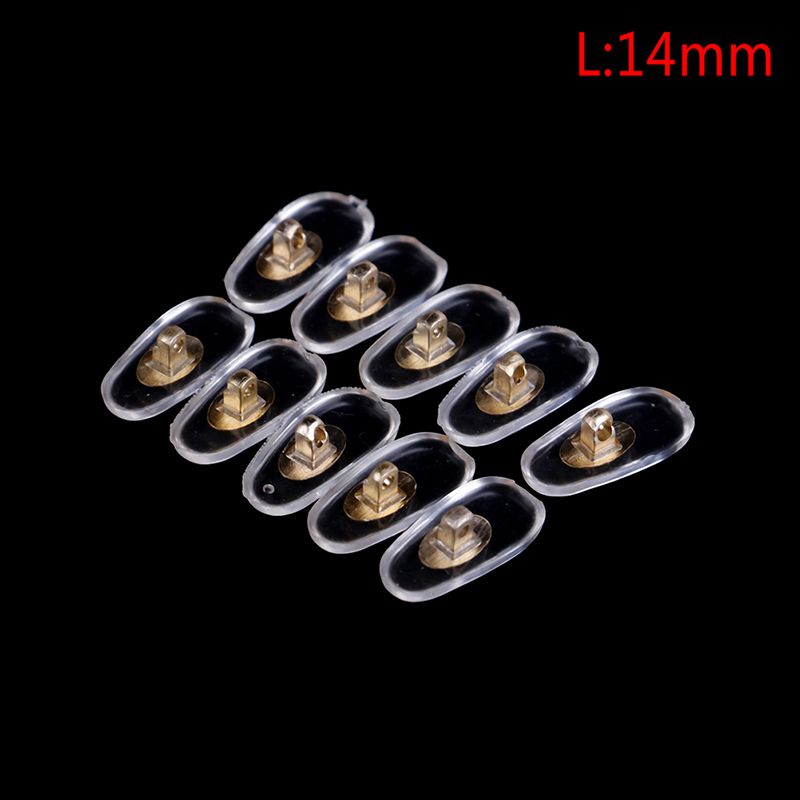 5Pairs Silicone Eyeglass Sunglasses Spectacles Screw On Nose Pads