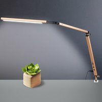 Swing Arm LED Desk Lamp with Clamp Dimmable Table Light for Study Reading Work Office LB88