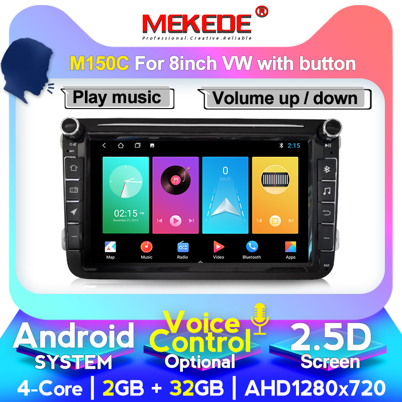 MEKEDE Android 10 Car GPS <font><b>Multimedia</b></font> player for <font><b>Volkswagen</b></font> Skoda Octavia <font><b>golf</b></font> 5 <font><b>6</b></font> touran passat B6 polo tiguan jetta Bora rapid image