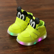 New Spring Bright Autumn Children Easy Kids Led Shoes High Girls Shoes Babies Boys Trainer Daughters