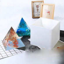 15cm Large Pyramid Silicone Mold DIY Orgonite home decoration Epoxy Resin Potter