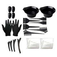 Juego de accesorios para el pelo para salón de belleza, set de herramientas para barbería, cepillo, orejeras, cuenco, guantes, Clips, 22 Uds.