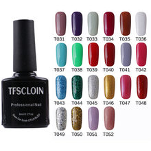 2021 new 8ml Glitter UV Gel Nail Polish Glitter Sequins Soak Off UV Gel Varnish Colorful Nail Gel Polish DIY Nail Art Polish