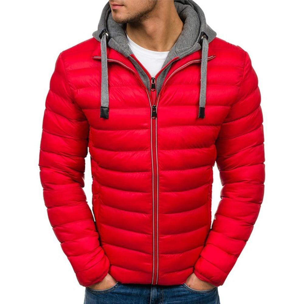 ZOGAA Men Fashion Parkas Men Cotton Warm Overcoat Male Casual Hooded Jacket Coat Autumn Winter Men Streetwear Overcoat