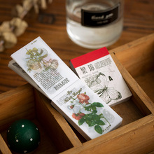 Paper-Notes Note-Paper Flower Memo-Pad Office-Supply Words Plants Forest Mushroom 100pcs