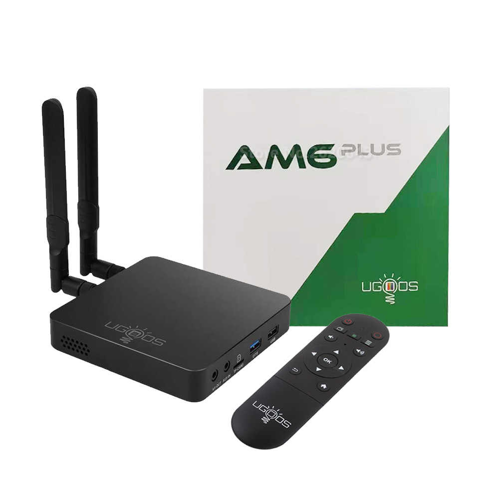 UGOOS AM6 Plus Android 9,0 TV Box Amlogic S922X-J 2,2 GHz 2,4G 5G Wifi Set Top box 4GB DDR4 32GB 1000M LAN BT 5,0 4K Media Player