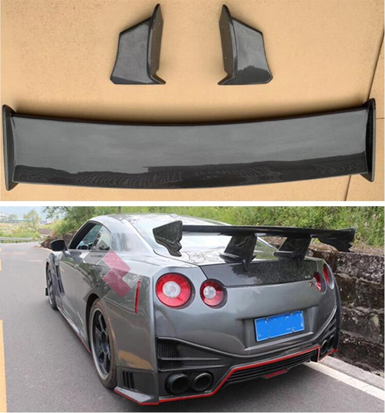 High Quality CARBON FIBER ROOF <font><b>REAR</b></font> WING TRUNK LIP <font><b>SPOILER</b></font> FOR Nissan <font><b>R35</b></font> GT-R <font><b>GTR</b></font> 2008-2015 Year N Style image