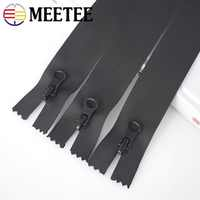 Meetee 5/10PCS 15/18/20cm Waterproof Zippers For Sewing Close-end 5# Nylon Invisible Zipper Outdoor Jacket Bags Pocket Zip KY104