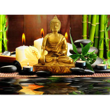 "Full Square/Round Drill 5D DIY Diamond Painting ""Religious Buddha"" 3D Rhinestone Embroidery Cross Stitch 5D Home Decor(China)"