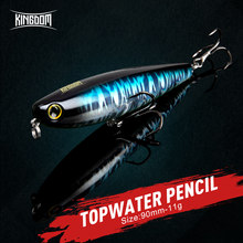 Kingdom Walking-Dog Fishing Lure Floating Topwater Pencil 90mm Surface Jerkbait Artificial Fishing Wobbler Far Casting Hard Bait