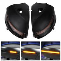 1 pair Car Left/Right Side LED Flowing Turn Signal Light for VW Passat Jetta E0S Beetle CC Rearview Mirror Light Car Accessories